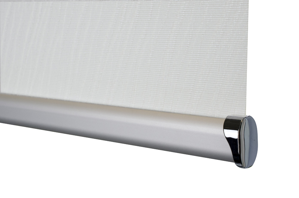 Senses bottom bar in Brushed Aluminium with chrome endcaps